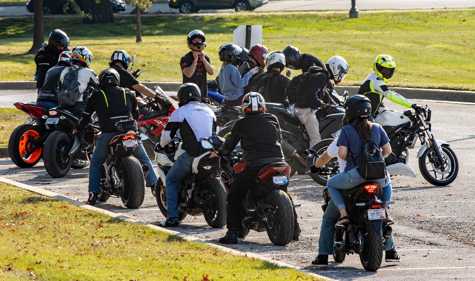 Motorrad-Gruppe