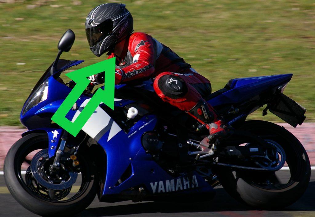Motorrad freier Hals