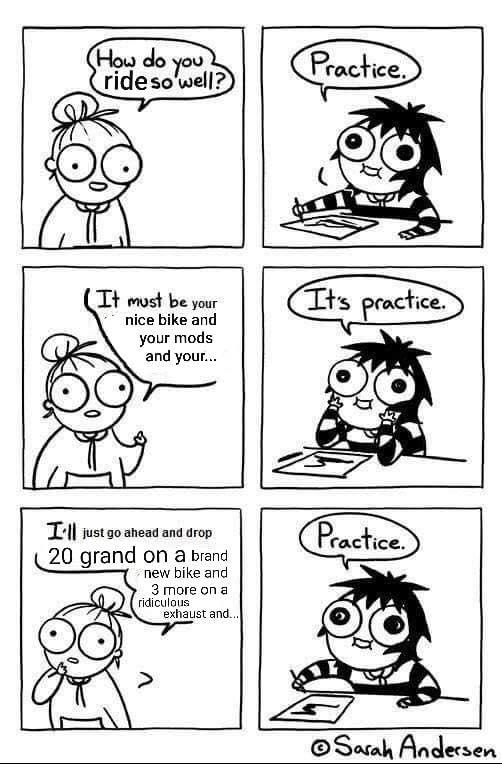 It's practice