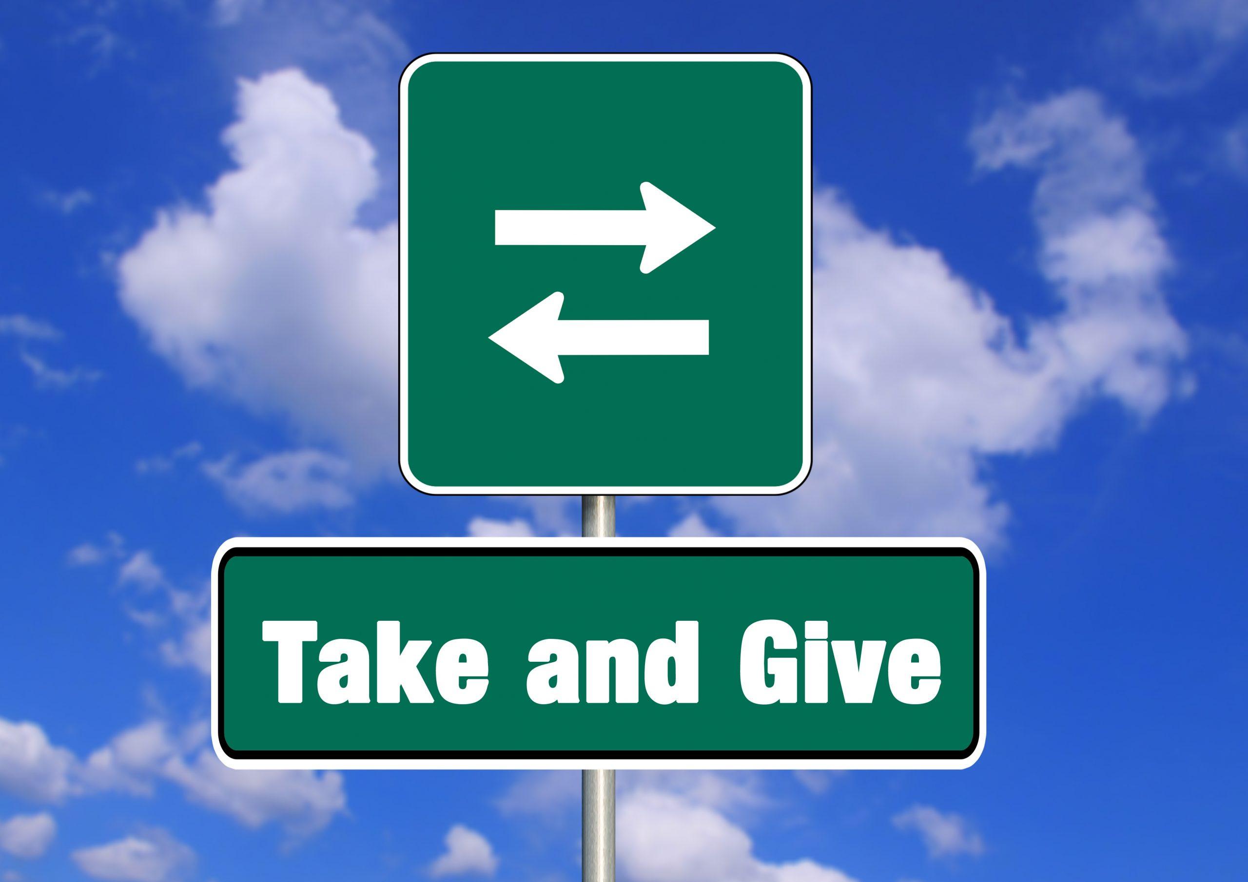 Geben und Nehmen