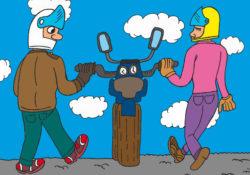 Biker Zusammenhalt und Respekt